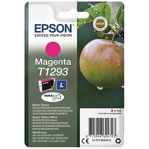 Image of Epson T1293 Inkjet Cartridge DURABrite Apple L Capacity 7ml Magenta Ref C13T12934011