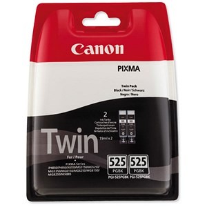 Image of Canon PGI-525 Inkjet Cartridges Total Page Life 648pp Black Ref 4529B006/10 [Twin Pack]
