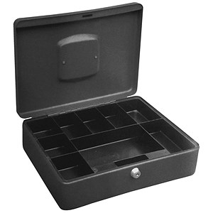 Image of High Capacity Cash Box 300mm Deep with Coin Tray 8 Part and Note Section 3 Part