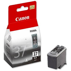 Image of Canon PG-37 Inkjet Cartridge Page Life 220pp Black Ref 2145B001