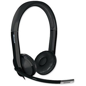 Image of Microsoft LifeChat LX-6000 Headset Microphone USB and Analogue Audio Input/Output Ports Ref 7XF-00001