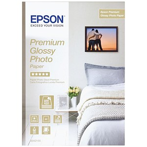 Image of Epson A4 Premium Glossy Photo Paper - White - 255gsm - Pack of 15 - Ref S042155