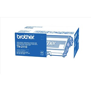 Image of Brother Laser Toner Cartridge Page Life 1500pp Black Ref TN2110