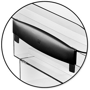 Image of CEP Premier Risers for Letter Tray H30mm Black Ice Ref 913551 [Pack 2]