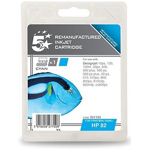 Image of 5 Star Compatible Inkjet Cartridge Cyan [HP No. 82 C4911A Alternative]