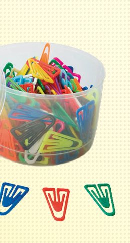 Plastic non magnetising paperclips