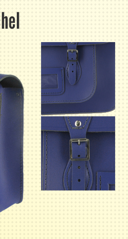 Remarkable blue recycled leather satchel