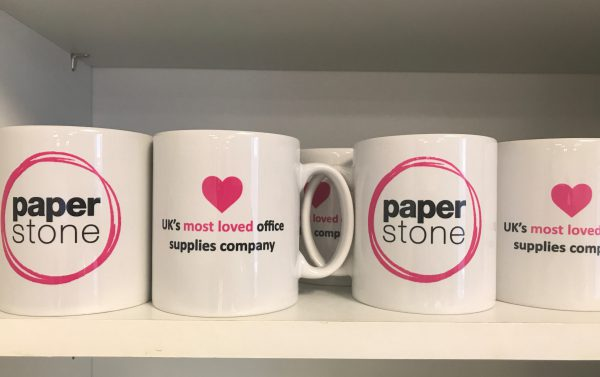 Paperstone branded mugs