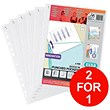Elba Heavy Duty Quick-in Punched Pocket / A4 / Clear / Pack of 100 - Buy One Get One FREE