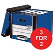 Fellowes Bankers Box / Premium 726 Classic Box / Blue & White / Pack of 10 / 3 for the price of 2