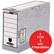 Fellowes Bankers Box Transfer Files / 120mm / Pack of 10 / 3 for the price of 2 with FREE Cadbury Hero Bag