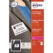 Avery Laser Name Badge Labels / Self-adhesive / 80x50mm / White / L4785-20 / 200 Labels