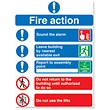 Symbol Fire Action Sign W210xH148mm