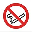 No Smoking Sign for Vehicles 100x100mm Clear Self-adhesive Vinyl