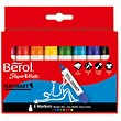 Berol Flipchart Markers / Water-based / Wedge Nib / Assorted Colours / Pack of 8
