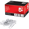 5 Star Large Metal Paperclips - 33mm / Plain / Pack of 100
