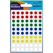Avery Coloured Labels / 8mm Diameter / Assorted Colours / 32-291 / 560 Labels