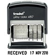 Trodat Printy 4817 Dial-A-Phrase Dater Stamp Self-inking Black Ref T4817 80361
