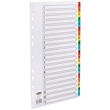 Image of Concord Commercial File Dividers / A-Z / Multicoloured Tabs / A4 / White