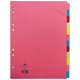 Image of Concord Contrast File Dividers / 12-Part / A4 / Assorted
