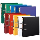 Image of PremTouch A4 Lever Arch Files / Plastic / 80mm Spine / Assorted / Pack of 10