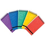 Wirebound Notepad / 202x127mm / Elasticated / Ruled / 300 Pages / Assortment A / Pack of 10