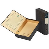 Image of Rexel Classic Box File with Lock Spring / A4 / Plain / Pack of 5