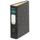 Image of Rexel Classic Foolscap Lever Arch Files / Slotted Covers / 80mm Spine / Cloudy Grey / Pack of 10