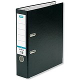 Image of Elba Foolscap Lever Arch Files / PVC / Slotted Covers / 70mm Spine / Black / Pack of 10