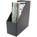 Image of Plastic Jumbo Magazine Rack / 110mm / A4 / Black / Pack of 5