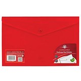Image of Concord Stud Wallet Files / Translucent Polypropylene / Foolscap / Red / Pack of 5