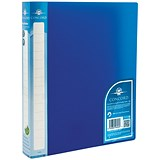 Image of Concord Natural Ring BInder / 2 O-Ring / 40mm Spine / 25mm Capacity / A4 / Blue / Pack of 10