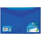 Image of Concord Stud Wallet Files / Vibrant Polypropylene / Foolscap / Blue / Pack of 5