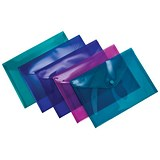 Image of Concord Stud Wallet Files / Vibrant Polypropylene / A5 / Assorted / Pack of 5