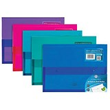 Image of Concord A4 Stud Wallet Files with Gusset / Vibrant / Assorted / Pack of 5