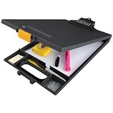 Image of Clipcase Clipboard with Calculator / A4 / Black