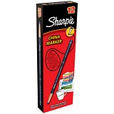 Image of Sharpie China Wax Marker Pencil / Black / Pack of 12