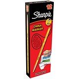 Image of Sharpie China Wax Marker Pencil / Yellow / Pack of 12