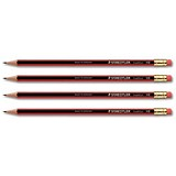 Staedtler 112 Tradition Pencil Cedar Wood with Eraser HB / Bulk Pack / Pack of 12 x 12
