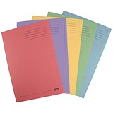 Image of Elba Folder Square Cut Recycled Heavyweight 285gsm Foolscap Assorted Ref 100090142 [Pack 25]