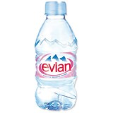 Evian Natural Mineral Water - 24 x 330ml Plastic Bottles