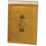 Image of Jiffy Mailmiser No.7 Bubble-lined Protective Envelopes / 340x445mm / Gold / Pack of 50