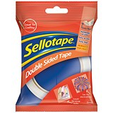 Sellotape Double-sided Tape / 25mm x 33m / Pack of 6