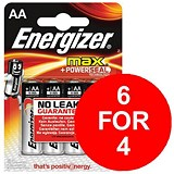 Image of Energizer Max AA/E91 Batteries - 2 Free Batteries