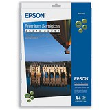 Epson A4 Semi-Gloss Premium Photo Paper / White / 251gsm / Pack of 20