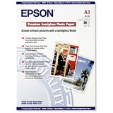 Epson A3 Premium Semi-Gloss Photo Paper / White / 251gsm / Pack of 20