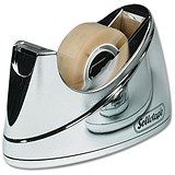 Sellotape Small Desktop Tape Dispenser / Non-slip / Capacity: W19mmxL33m / Chrome