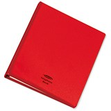 Image of Telephone Index and Address Book Binder with Matching A-Z Index and 20 Sheets / A5 / Red
