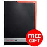 Image of Black n' Red L Folders / Polypropylene / 4 x Pack of 5 / Offer Includes FREE Notebook