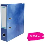 Elba A4 Lever Arch File / Laminated Gloss Finish / 70mm Spine / Blue / Buy 4 get 1 free